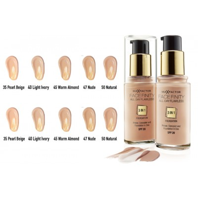 Тональный крем Max Factor Facefinity All Day Flawless 3-in-1 foundation SPF 20 № 55